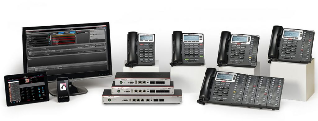 business phones and computers