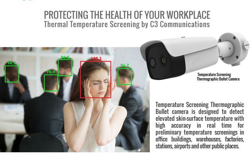 thermal temperature screening cameras for the workplace and public areas